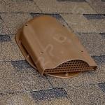 Вентилятор подкровельного пространства с проходным элементом для мягкой и фальцевой кровли (готовой)