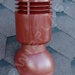 Вентиляционный выход изолированный D 110 мм Н 495 мм с проходным элементом для мягкой кровли (при монтаже)