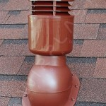 Вентиляционный выход изолированный D 110 мм Н 495 мм с проходным элементом для мягкой и фальцевой кровли (готовой)