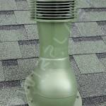 Вентиляционный выход неизолированный D 110 мм Н 495 мм с проходным элементом для мягкой и фальцевой кровли (готовой) с электрическим вентилятором 305 куб.м./час