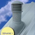 Вентиляционный выход изолированный D 150 мм Н 550 мм с проходным элементом для мягкой и фальцевой кровли