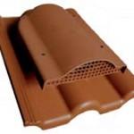 Вентилятор подкровельного пространства с проходным элементом для бетонной черепицы